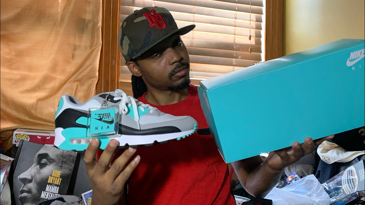Air max 90 hyper Turquoise on foot and review