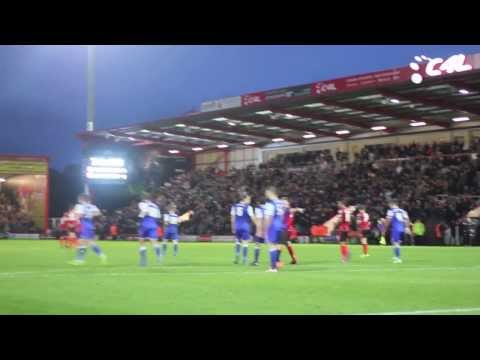Disallowed goal | Reverse camera angle for the disallowed goal against Ipswich Town