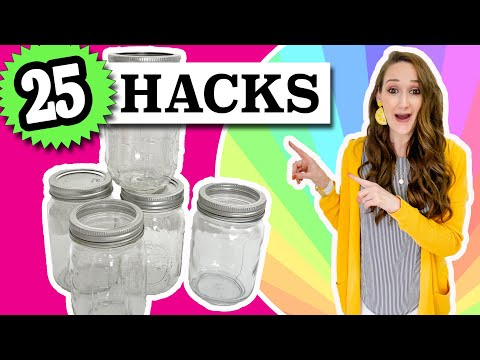 DIY Mason jar 25 MASON JAR CRAFTS and $1 SIMPLE Ideas you NEED   Dollar Tree DIYs