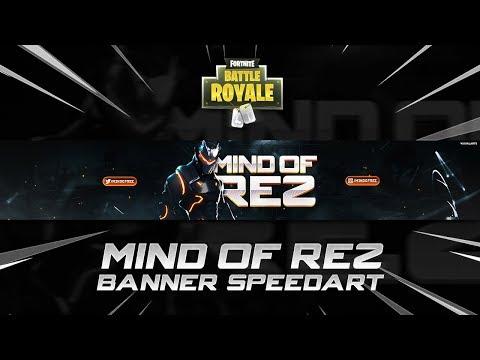'MindOfRez' - Fortnite YouTube Banner Speedart