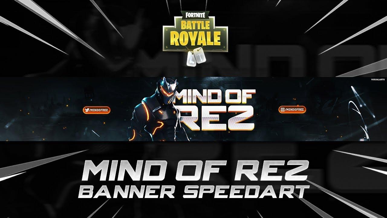 Mindofrez Fortnite Youtube Banner Speedart Youtube