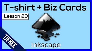 Inkscape Lesson 20 - Examples of shirts, cards, and books, made in Inkscape