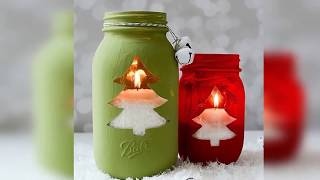 Ideas for decorating glass jars for christmas Jar crafts