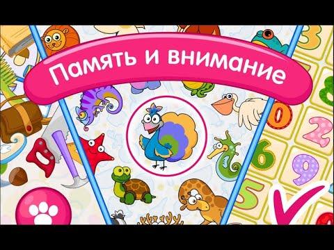 Память и внимание.  Игры на память. Играем вместе. Игрушки и игры с детьми.