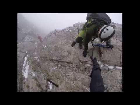 Klettersteig Höllental : Zugspitze über höllental und klettersteig juli gopro hero