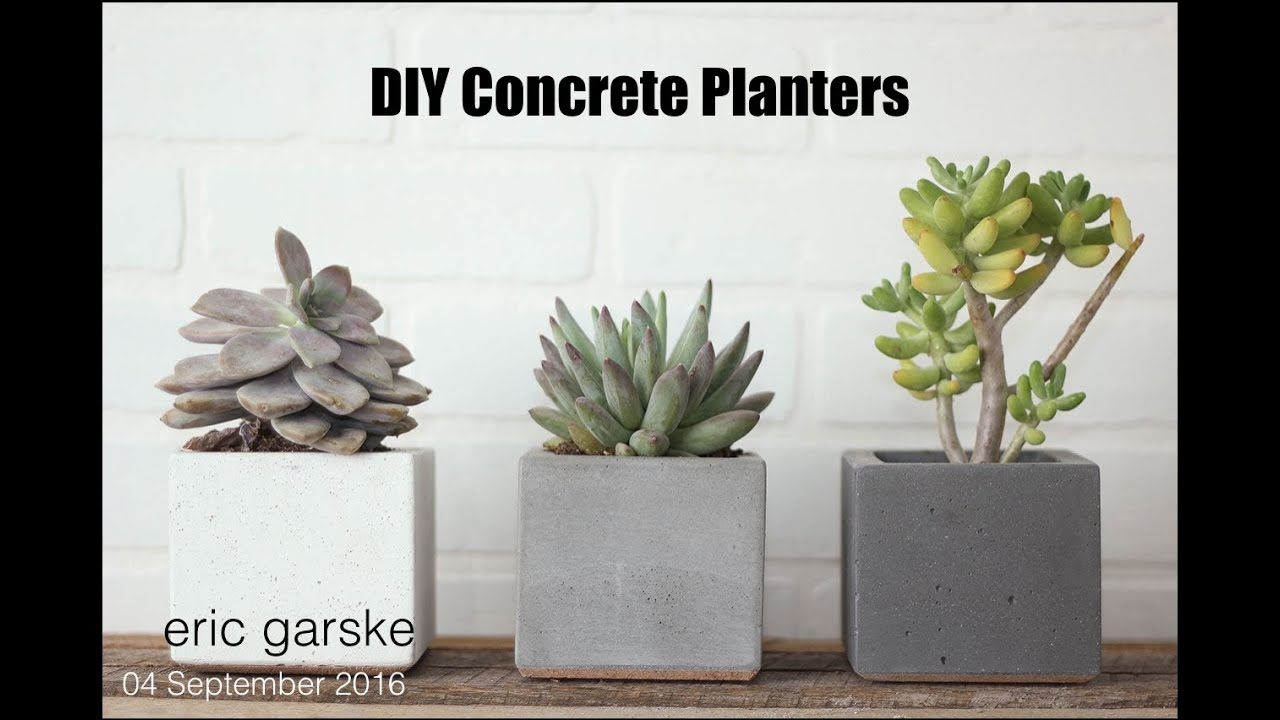 DIY Concrete Planter Simple and Easy Eric Garske YouTube