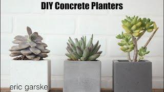 DIY Concrete Planter - Simple and Easy // Eric Garske