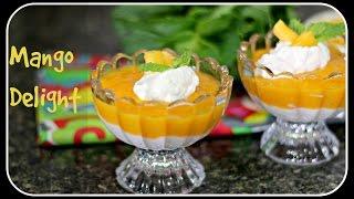 Mango Delight - Quick Summer Dessert Under 15 Mins
