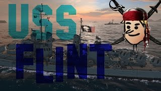 uss flint world of warships 7 kills in 10 min