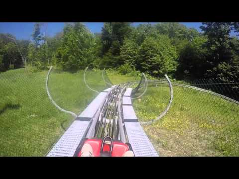 Full throttle at the Mountain Coaster at Ellicottville's Sky High Adventure Park