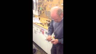 Installing and adjusting new valves in a Ford flathead V-8
