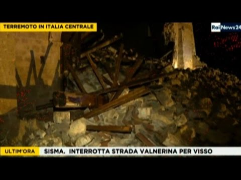 Earthquakes hit central Italy within hours