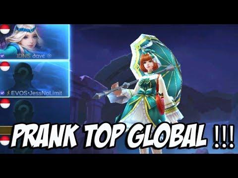 PRANK TOP GLOBAL !! *SAYA MENYESAL* Mobile LegendsBang Bang