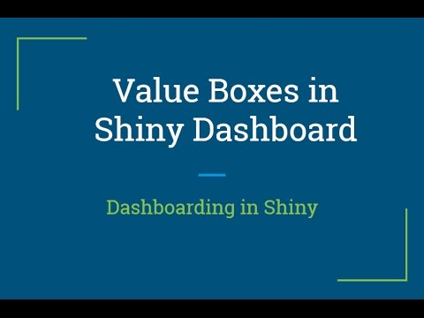 R Shiny Tutorial | How to create Value Box in R Shiny Dashboard | R  Programming Tutorial