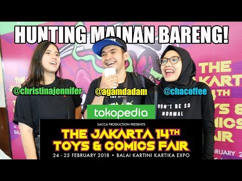 Main Bareng #22 - Hunting mainan di Jakarta Toys & Comics Fair 2018 bareng CJ!