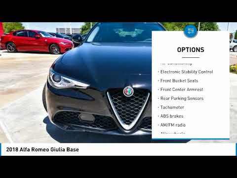 2018 Alfa Romeo Giulia Ft. Worth Tx, Arlington TX, Grapevine TX A580516