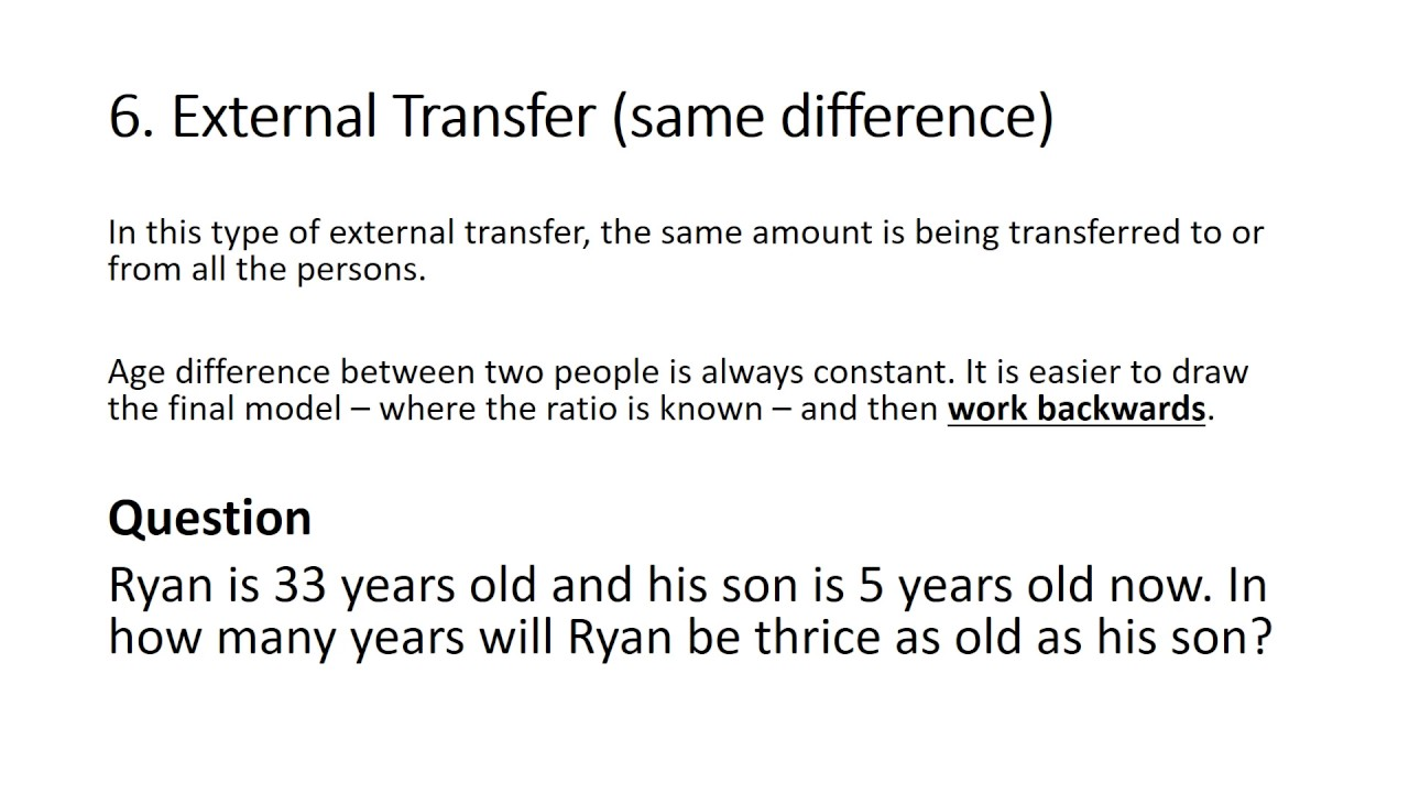 PSLE Math problem sums external transfer same difference - YouTube