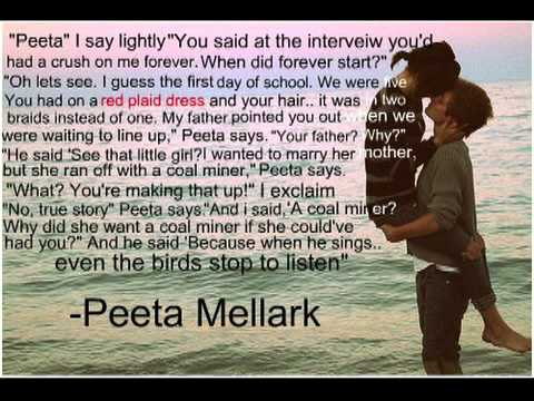 Hunger Games Quotes Adorable The Hunger Games Love Triangle YouTube