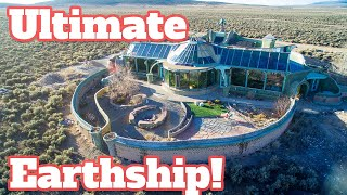 The Mack Daddy Earthship: Phoenix Earthship Tour - Off Grid Underground Home
