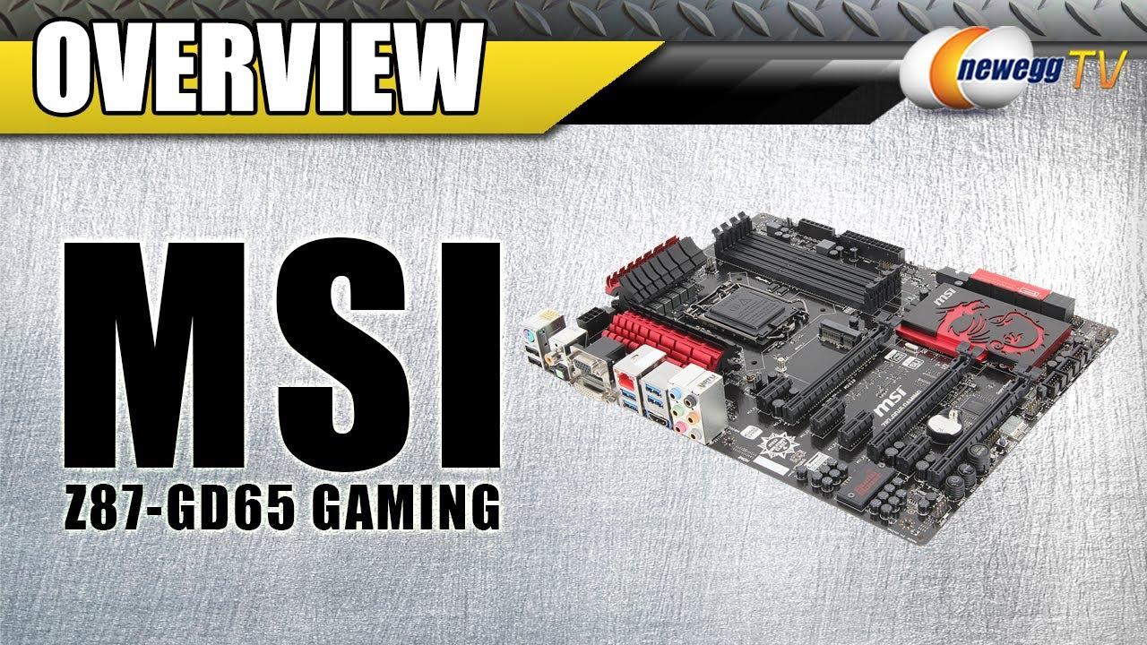 MSI Z87-GD65 Gaming LGA 1150 Intel Z87 HDMI SATA ATX motherboard