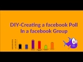 creating a poll in facebook