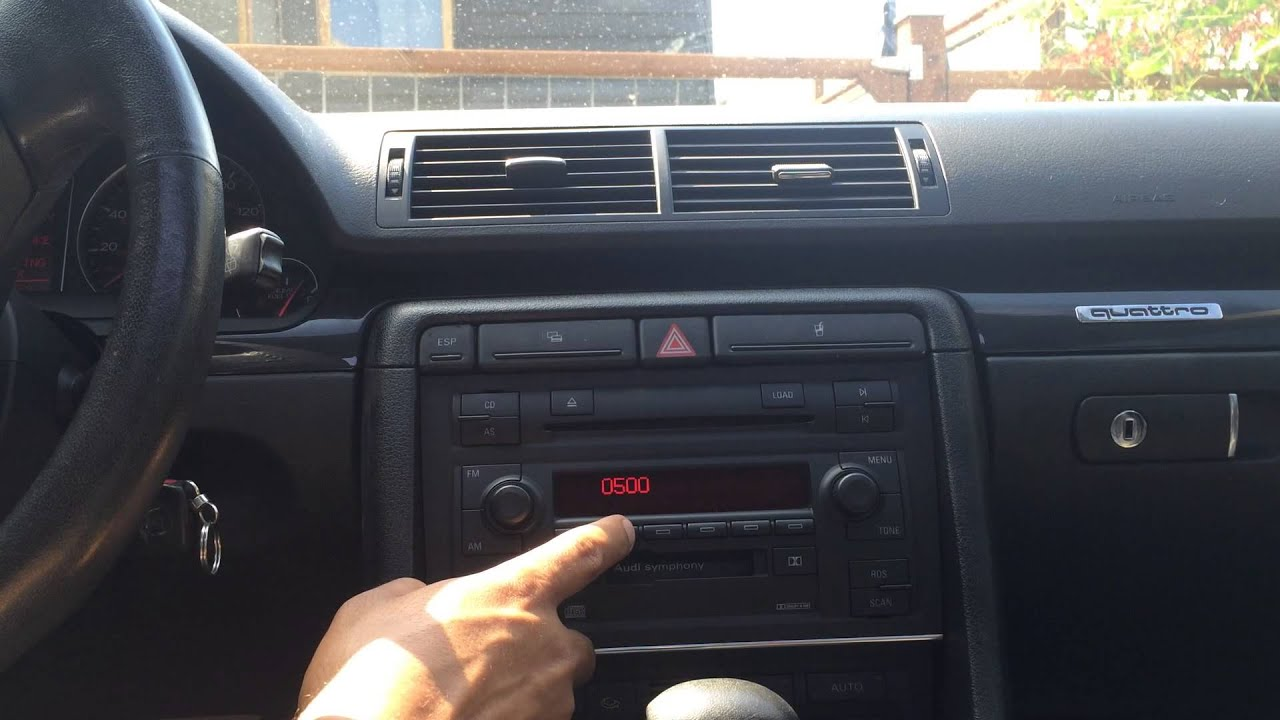 How To Bring Audi Symphony Stereo Out Of Safe Mode Youtube
