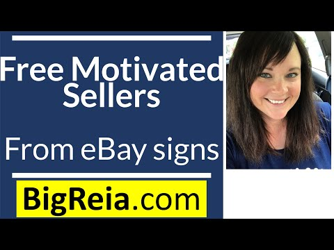 Indiana real estate investors: How to get free motivated seller leads from eBay signs, EPIC flippin