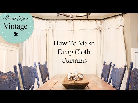 Drop Cloth Curtains | Farmhouse Curtains