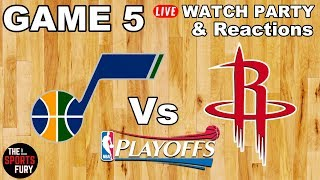 Jazz vs Rockets Game 5   Live Watch Party & Reactions