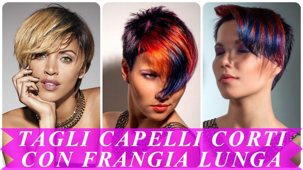 Modelli Di Tagli Capelli Corti Con Frangia Lunga 2018 Youtube