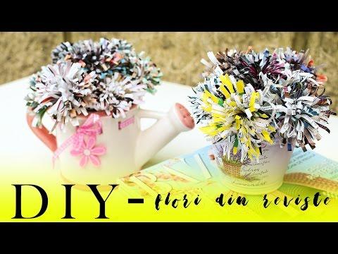 DIY - Flori din reviste reciclate | Inscrierea Balabaniana la E.ON Energy Globe Award