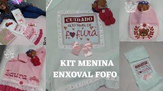 Download lagu ♡Lindo kit Menina♡Ponto-cruz ♡Rosa♡