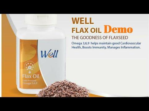 Modicare Well Flax Oil Demo Hindi Youtube