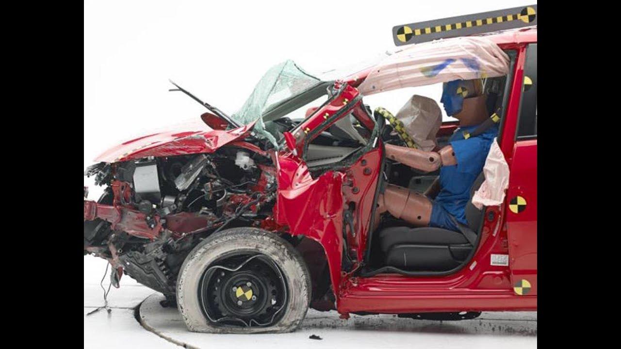 2014 Mitsubishi Mirage Crash Test Youtube