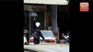 Penang jewellery shop heist caught on video