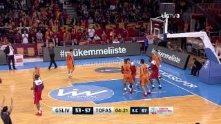 Galatasaray Liv Hospital - Tofaş Maç Özeti Türkiye Basketbol Ligi