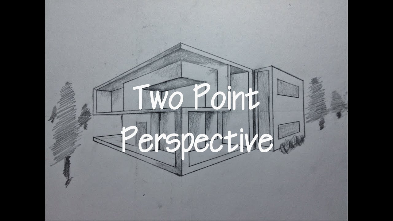 Architecture draw perspective