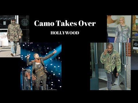 Camouflage Trend - Kanye West, Kim Kardashian, Justin Timberlake