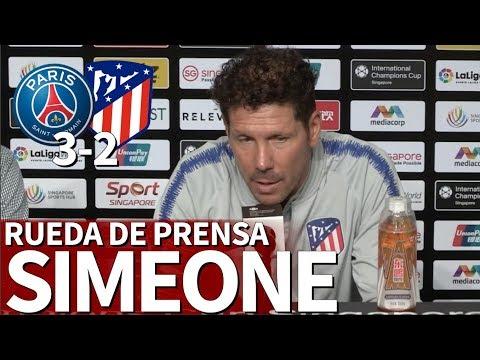Psg 3- Atlético 2 I Rueda de prensa Simeone ICC 2018 I Diario As