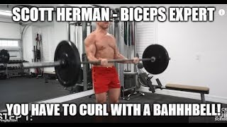 "Response To ScottHermanFitness ""My Biceps Peak Is Small & WON'T GROW! HELP"""