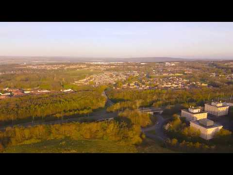 Drone view of Washington Tyne and Wear UK DJI mavic mini