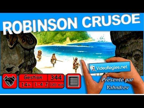 """1ère partie Vidéorègle jeu de société """"Robinson Crusoe"""" par Yahndrev (#344a)(+sub)"""
