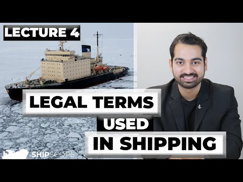 Legal Terms used in Shipping