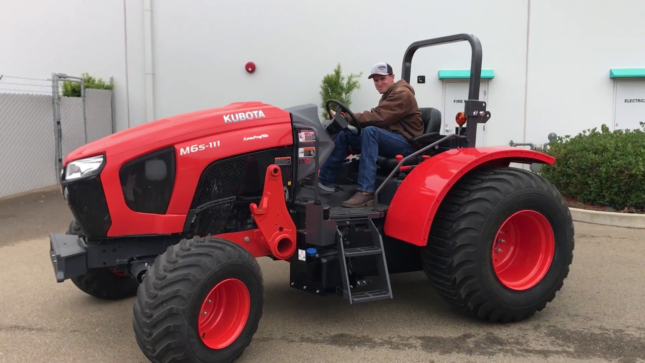 Low Profile Tractor : Kubota m l low profile orchard tractor youtube