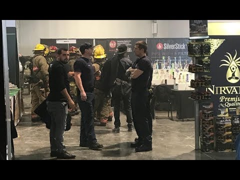 Fire inside Las Vegas Convention Center forces evacuation of Champs Trade Show
