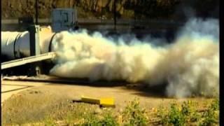 Five-Segment Ares Development Motor (DM-2) Solid Rocket Booster Static Test Fire