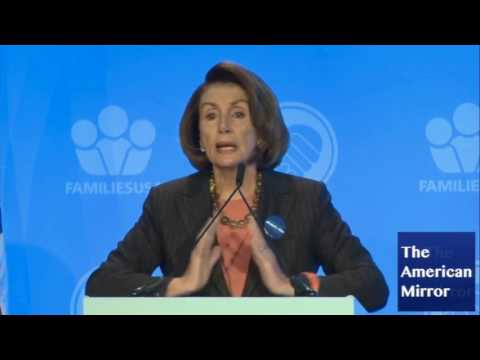 Nancy Pelosi repeats words, tells audience to clap, Kasich