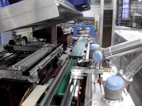 UNIVERSAL ROBOTS Verpacken von Stahlprofilen