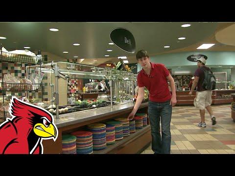 Trayless Dining at Illinois State University