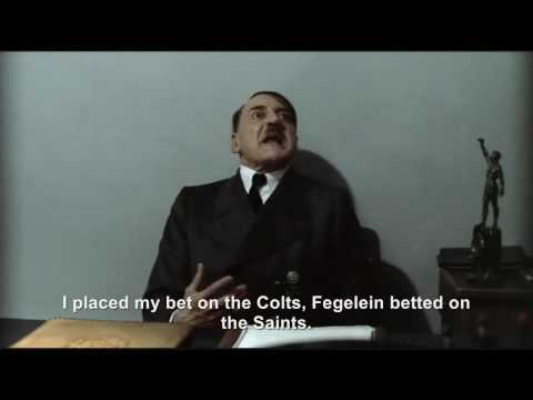 Hitler is informed the New Orleans Saints won the Super Bowl XLIV